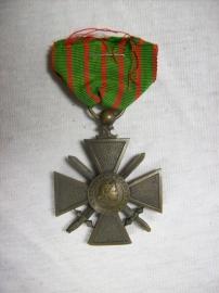 French medal croix de Guerre, 1914- 1918 Franse medaille oorlogskruis