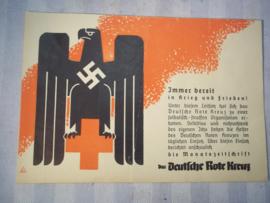 Duits reclame pamflet voor het tijdschrift Das Deutsche Rote Kreuz. 20 bij 14 cm.