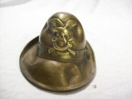 Bronze miniature Italian Alpinihat Miniatuur Alpini regiment hoed