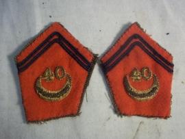 Franse kraagemblemen Zouaven Regiment