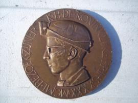 Penning, medaillion Belgium miners, Bezoek zijner Koninklijke Hoogheid de Koninklijke  Prins , Kolenmijn van  Beringen, XXX.X.MCML - 30 Oktober 1950, gebruikte staat.