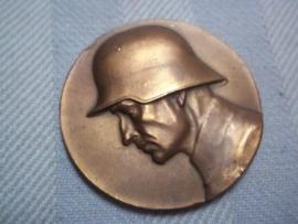 German medal Reichrwehr. Duitse penning 4cm doorsnee Teichswehr Medaille 1931 Für gutes Schiessen v. Leeb. Div. Kdr. leuke afbeelding.