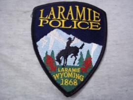 Badge, embleem Laramie Police Wyoming.