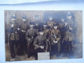 German postcard 38 st Landsturm Inf. Ersatz Batt..Postkaart 2e rekruten pionier depot 1916