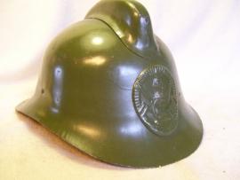 Russian fire helmet, Russische brandweerhelm met embleem