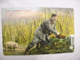 Postcard German, Duitse kaart 1. Bayerische Infanterie Div. veldpost