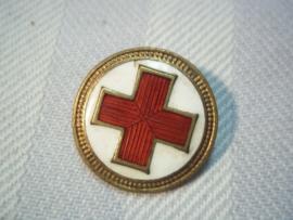 Nederlandse rode kruis speld, Kon. begeer Voorschoten, met emaille