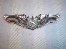 US wing sterling WW2- SERVICE PILOT WING. Amerikaanse piloten wing gemarkeerd. SERVICE PILOT WING