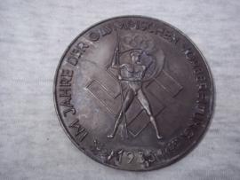 German medal, plaque, Olympic Games 1936. Duitse penning Im Jahre der Olympischen Vorbereitung 1935-1936 - Für besondere Verdienste um die Olympiade Citius- Altius- Fortius.