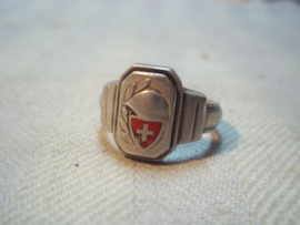 Schweizer army ring. Zwitserse leger ring.