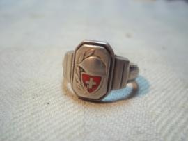 Schweizer army ring. Zwitserse leger ring.