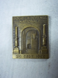Swiss badge, Zwitsers embleem pour la defense nationale 20 sept 1936