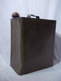 Blik TEXACO motor olie met originele bronzen sluitdop van Texaco, decoratief. Jaren 30-40