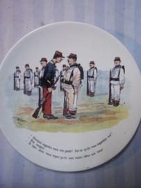 Frans karikatuur bordje met militaire afbeelding uit WO1