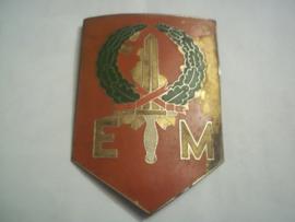 Netherlands-Indies metal sleeve badge. Metalen mouwembleem Nederlands- Indië Expeditionaire macht 7 december.