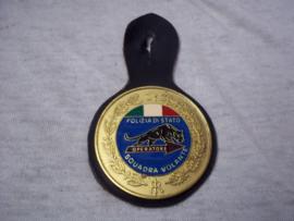 Italian police badge Italiaanse borsthanger Politie.