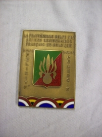 Medal old Legionairs.Penning van oud legionairs uit Frankrijk en Belgie
