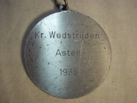 Dutch fire medal. Nederlandse prestatie medaille brandweer te Asten