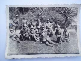 WW 1 photograph of a group of Italian or Russian soldiers. full equipment