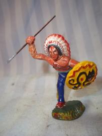 elastolin, durso lineol indiaan met speer