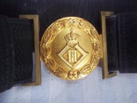 Belgische seremoniele riem jaren 50 vuurverguld, met monogram van Leopold III opgelegd. decoratief geheel.