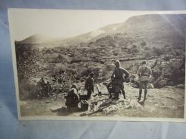 Postkaart foto koloniale strijd Afrika, fotograaf uit Casablanca