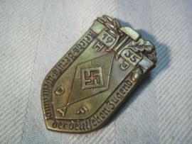 German tinnie, Reichs- berufs wettkampf der deutsche Jugend 1935. Duitse tinnie Hitlerjugend en Deutsche Arbeids Front