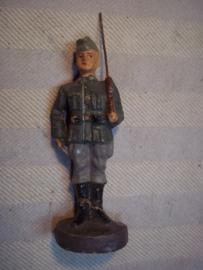 Elastolin, Durso, Lineol, Duitse soldaat op wacht met kwartiersmuts