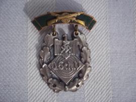 German shooting price. Medaille D.S.V. zilver Deutscher Schützen Verband.