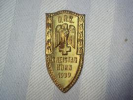German tinnie  Red Cross. Duitse Tinnie D.R.K. Duitse rode kruis Rotes kreuz, Kreistag Horn 1939, zonder speld, zeldzaam
