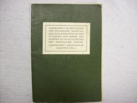 Nederlands dienstvoorschrift Koninklijke Marine 1936 hoe om te gaan met krijgsgevangenen