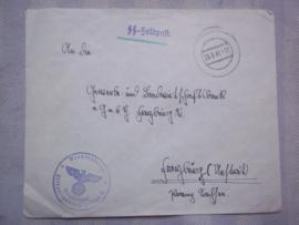 German SS- Feldpost cover. Duitse enveloppe met SS-Feldpost