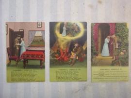 set van 3 Engelse postcards. postkaarten uit WO1. Farewell Isabelle