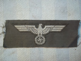 German overseas side cap badge Wehrmacht M-1934 type cap eagle. Petembleem Voor Wehrmacht pet Model 1934, Bevo geweven, de eerste na de Reichswehr periode zeer moeilijk te vinden .