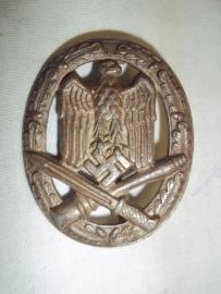 German General Assault badge unmarked, Duits Allgemeines Sturmabzeichen zonder maker, goede staat.