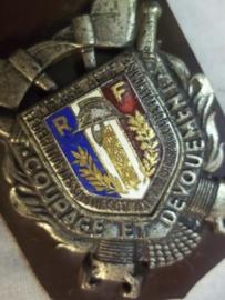 French badge firedepartment, Franse borsthanger pompier, brandweer