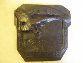 Austrian remembrance plate iron Das III  Eisernes Korps 1917. Oostenrijkse plaquette Gebirgsjäger zeer ZELDZAAM