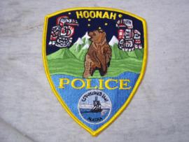 Badge, embleem Hoonah Police Alaska.