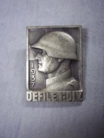 Swiss badge, Zwitsers speldje embleem Defile 1e Divisie 1937