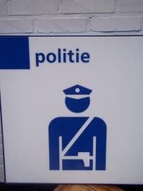 Information sign Policepost on Airfields and trainstations.Informatiebord wat aangeeft waar een politiepost zit op een luchthaven of treinstation.