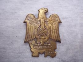 German tinnie, rally badge Duitse tinnie Frontsoldaten und Kriegsopfer Befreiungs Treffen 30-5-35 Deutsch die Saar.