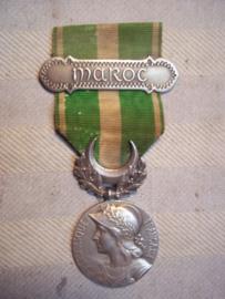 French medal 1930 with MAROC bar. Franse medaille jaren 30, met medaille balk MAROC.