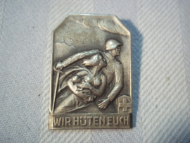 Zwitsers draagspeldje luchtbescherming. civil defence badge swiss