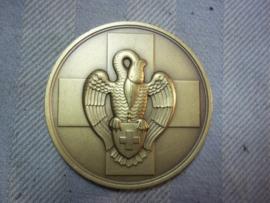 Belgium medal, Red Cross, bloodtransfusion. Bronzen penning van het Belgische Rode kruis, dank aan de bloedgevers.