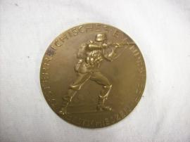 Austrian medal ôsterreichisches Bundesheer Besteschieszen 1937. Oostenrijkse penning brons
