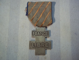 Franse verzets medaille FRANCE  LIBRE - 13 juni 1940- 8 mai 1945.