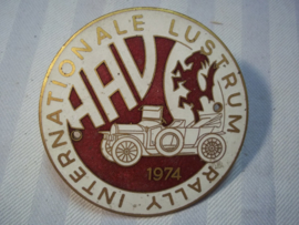 Emaille embleem Internationale Lustrum Rally 1974