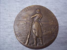 Belgisch penning plaatje voor op het rode boek, Nederlands talig van het vuurkruis.