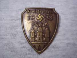 German tinnie, rally badge. Duitse tinnie Kreistreffen Döbeln 1935.