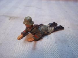 Elastolin,Durso, Lineol Duitse soldaat kruipend